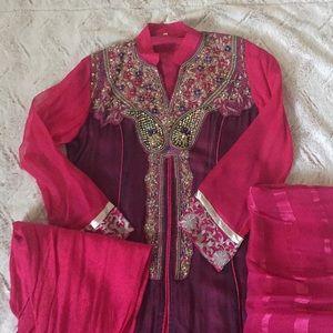 3 piece shawl kameez